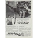 """1958 Eaton Truck Axles Ad """"shrink trip time"""""""