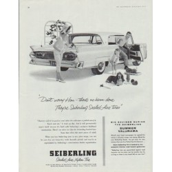"1958 Seiberling Tires Ad ""Don't worry Hon"""