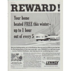 "1958 Lennox Ad ""Reward"""