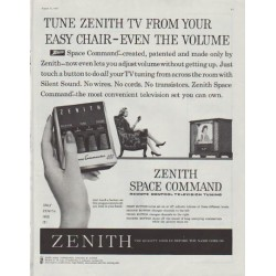 "1958 Zenith TV Ad ""easy chair"""