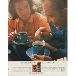"1963 Sanka Coffee Ad ""a lot of coffee"""