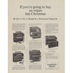 """1963 Hammond Organ Ad """"th"""