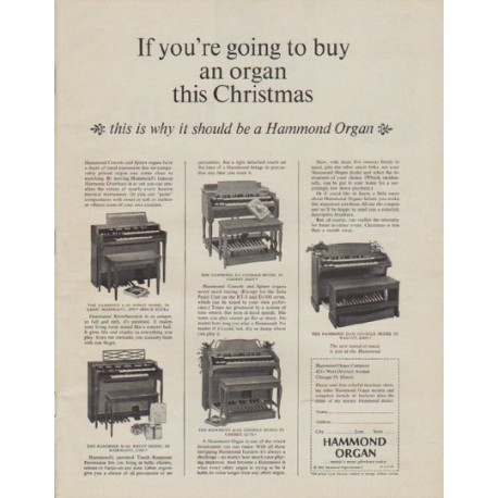 "1963 Hammond Organ Ad ""this Christmas"""
