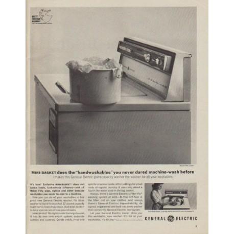 "1963 General Electric Ad ""Mini-Basket"""