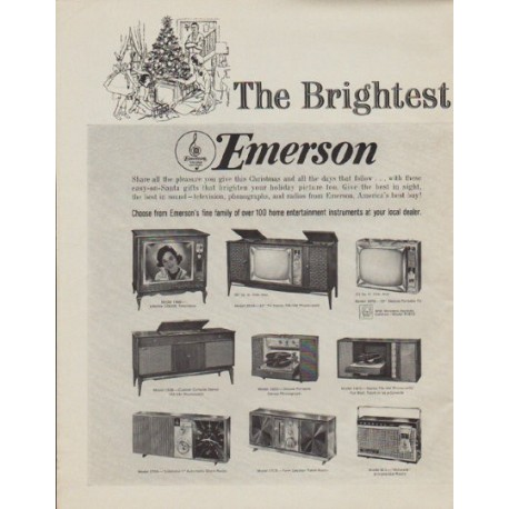 """1963 Emerson Ad """"The Brightest Gifts"""""""