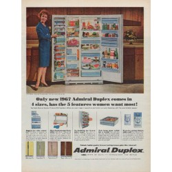 "1967 Admiral Refrigerator Ad ""5 Features"""