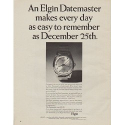 "1963 Elgin Watch Ad ""easy to remember"""
