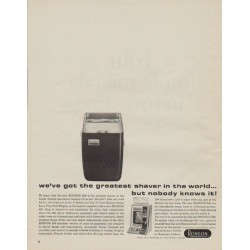 "1963 Ronson Ad ""greatest shaver in the world"""