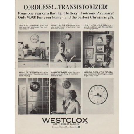 "1963 Westclox Ad ""Cordless"""