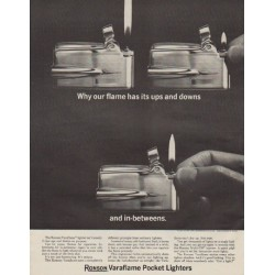 "1963 Ronson Ad ""our flame"""
