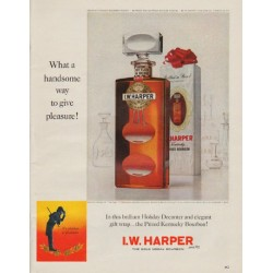 "1963 I.W. Harper Bourbon Ad ""handsome way"""