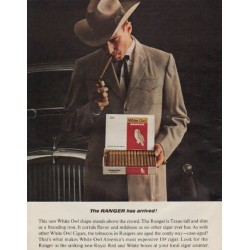 "1963 White Owl Cigars Ad ""The Ranger"""