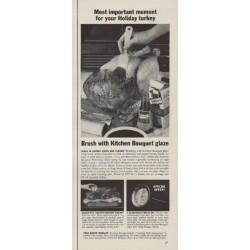"1963 Kitchen Bouquet Ad ""Most important moment"""