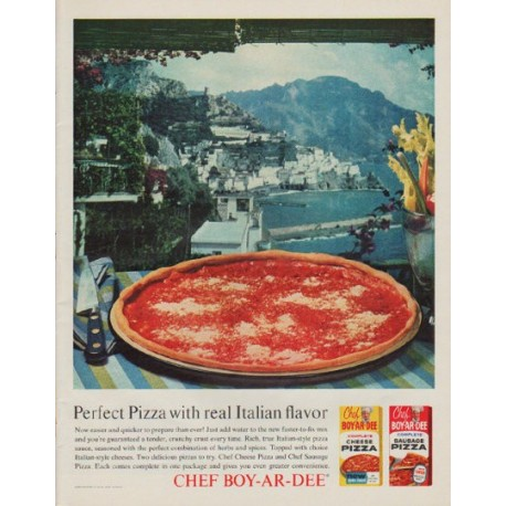 "1963 Chef Boy-Ar-Dee Ad ""Perfect Pizza"""