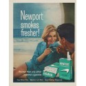 """1963 Newport Cigarettes Ad """"Newport smokes fresher"""""""