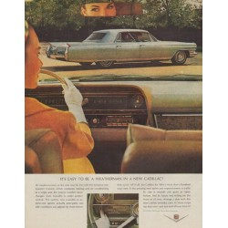 "1964 Cadillac Ad ""It's easy to be a weatherman"""