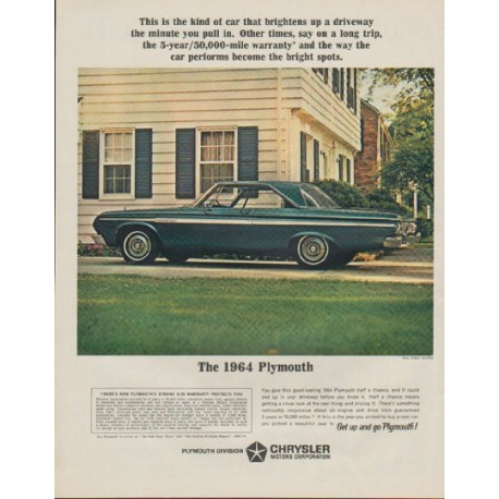 "1964 Plymouth Ad ""The 1964 Plymouth"""