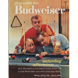 "1963 Budweiser Ad ""saturday afternoon"""