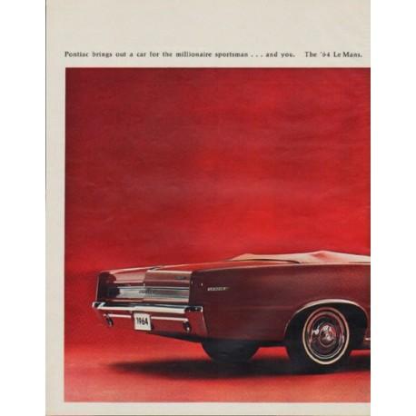 "1964 Pontiac Ad ""Le Mans"""