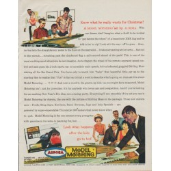 """1963 Aurora Model Motoring Ad """"what he really wants"""""""