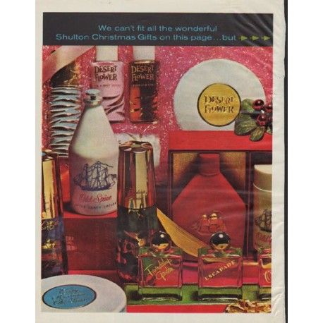 """1963 Old Spice Ad """"Shulton Christmas Gifts"""""""