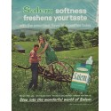 """1963 Salem Cigarettes Ad """"freshens your taste"""""""