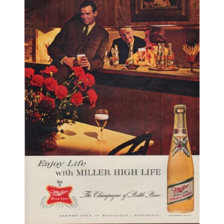 "1963 Miller Beer Ad ""Enjoy Life"""