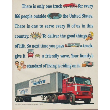 "1963 White Motor Company Ad ""There is only one truck"""