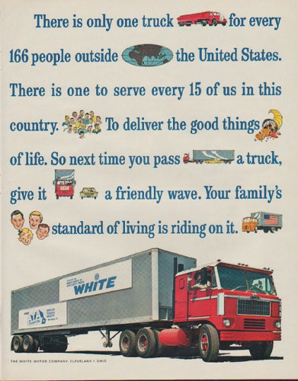 1963 white motor company vintage ad there is only one truck for White motor company trucks