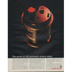"1963 Western Electric Ad ""125 successful missle shots"""