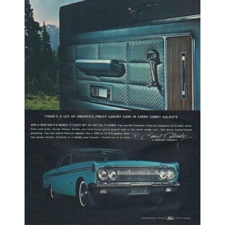 """1964 Ford Mercury Ad """"Comet Caliente"""""""