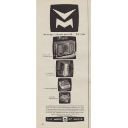"1963 Voice of Music Ad ""magnificent sound"""