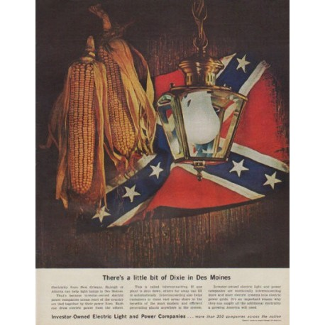 "1963 Electric Light and Power Companies Ad ""Dixie"""