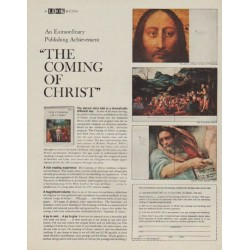 "1963 A LOOK Book Ad ""The Coming Of Christ"""