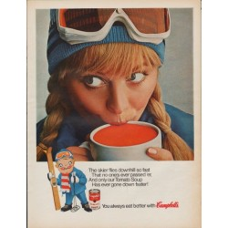 "1967 Campbell's Soup Ad ""The Skier"""