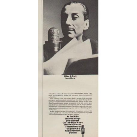 "1963 CBS Radio Network Ad ""Iron Men"""