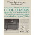"1963 Philco Television Ad ""Cool Chassis"""