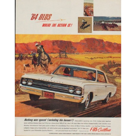 "1964 Oldsmobile Ad ""Nothing was spared"""