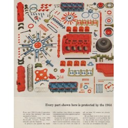 """1963 Chrysler Ad """"Every part"""""""