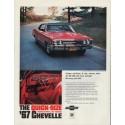 "1967 Chevrolet Chevelle Ad ""Quick-Size"""
