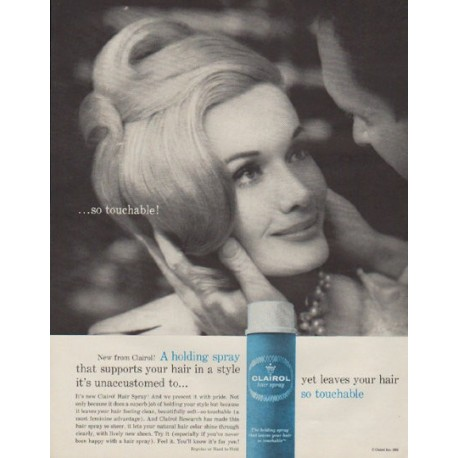 "1963 Clairol Ad ""so touchable"""