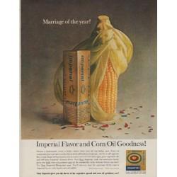 "1963 Imperial Margarine Ad ""Marriage of the year"""