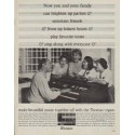 "1963 Thomas Organ Ad ""brighten up parties"""