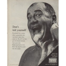 "1963 Dial Soap Ad ""Don't kid yourself"""