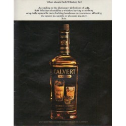"1963 Calvert Whiskey Ad ""Soft Whiskey"""