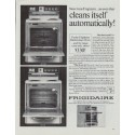 "1965 Frigidaire Ad ""cleans itself automatically"""
