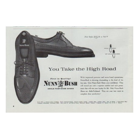 "1965 Nunn-Bush Ad ""You Take the High Road"""