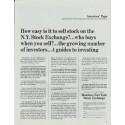 "1965 Members New York Stock Exchange Ad ""How easy"""