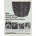 "1965 Goodyear Tires Ad ""Safety Spikes"""