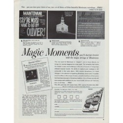 "1965 Mantovani recordings Ad ""Magic Moments"""